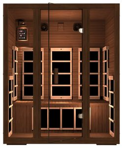 JNH Lifestyles 3-person Red Cedar Infrared Sauna