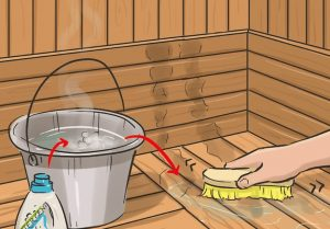 how to clean sauna
