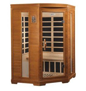 2 person infrared corner sauna