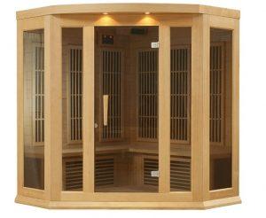3 person Carbon Corner Infrared Sauna