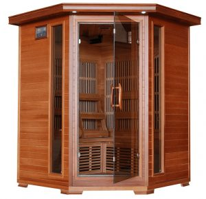 3 person Cedar Corner Infrared Sauna