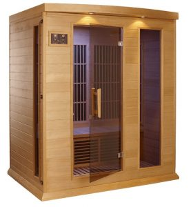 3 person Low EMF Far Infrared Carbon Sauna