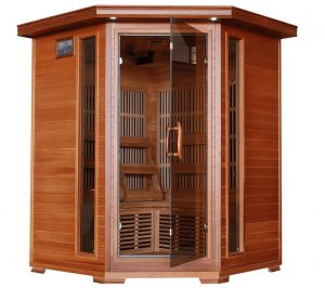 3 person corner sauna