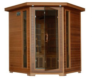 4 person Cedar Hone Corner Infrared Sauna