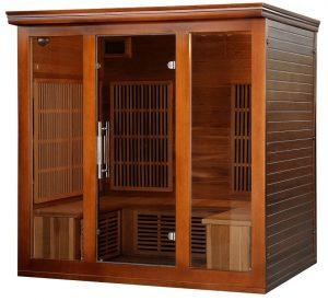 4 person cedar infrared sauna