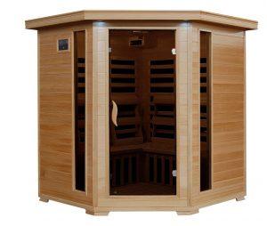 4 person infrared corner sauna