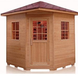 Outdoor Corner Far Infrared Sauna