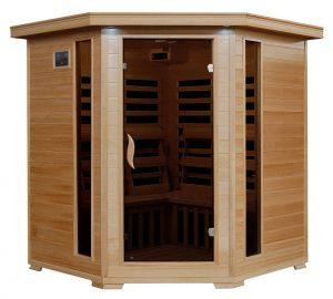Radiant Saunas 4 person Corner Carbon Infrared Sauna