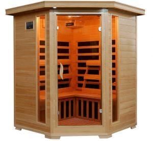 Three person Carbon Corner Infrared Sauna for Sale