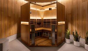 best corner sauna