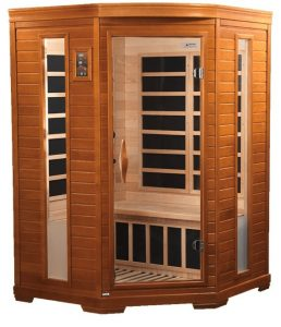 dynamic infrared luxury 2 person ir carbon far infrared sauna