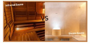 infrared sauna vs steam sauna