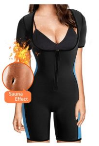 woman sauna suit